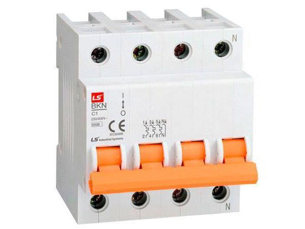 CB tép (MCB) BKN-b-4P-40A,10KA